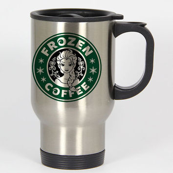 frozen coffee starbucks logo parody travel mugs,coffee mug,tea mug,14oz