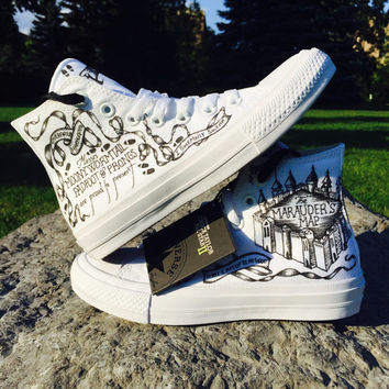 Converse Chuck 2 Marauder's Map Harry Potter Shoes