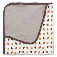 Leaves Blanket, Organic Cotton - Brown