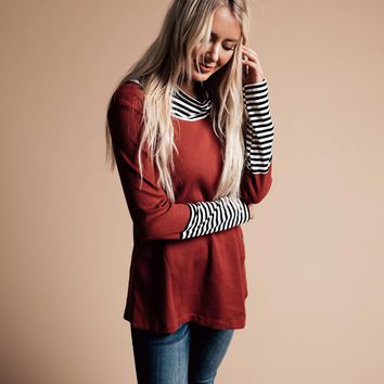Right About It Button and Cowl Neck Tunic