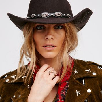 Free People Day's End Gaucho Band Western Hat