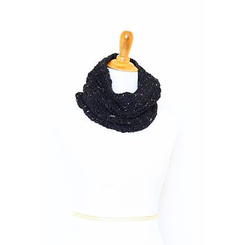 Crochet infinity scarf in graphite color, chunky cowl - 12 colors available