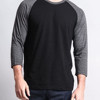 Men's Baseball T-Shirt TS900 (Black/Charcoal) - B12C