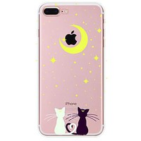 For Apple iPhone 7 7 Plus  6s 6 Plus  SE 5S Case Cover Lovely kitten Pattern TPU Material Painted High Penetration Simple Phone Case
