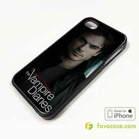 DAMON SALVATORE The Vampire Diaries iPhone 4/4S 5/5S/SE 5C 6/6S 7 8 Plus X Case Cover