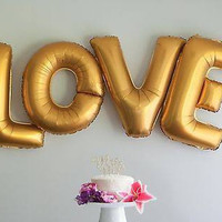 LOVE Letter Balloons - 40 Inch Gold