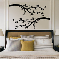 Black Branch With Leaves Wall Decal at AllPosters.com