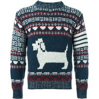 Indie Designs Thom Browne Inspired Dog Wool & Mohair Jacquard Sweater