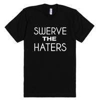 Swerve the haters black tee-Unisex Black T-Shirt
