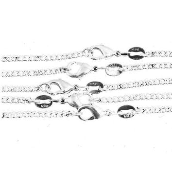 10 Pcs /Lot Fashion Silver Necklace Chain For Women