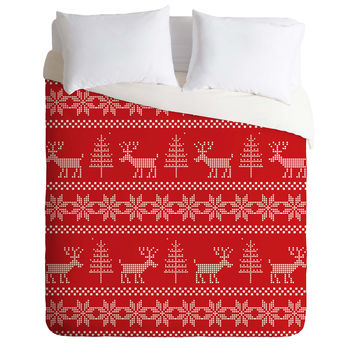 Natt Christmas Knitting Deer Duvet Cover