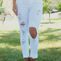 Dream Chaser Denim - White
