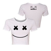 Girls Smile Crop Top White