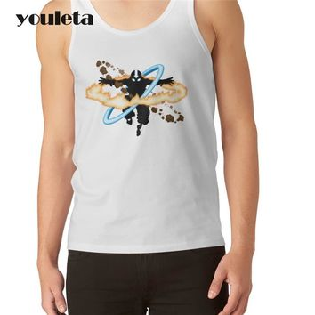 2018 New Creative Fashion The Last Airbender Printed Men Tank tops O-Neck Male Vest Hipster White Shirts