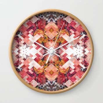 Roses under ice Wall Clock by Jeanette Rietz