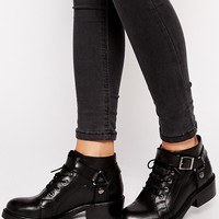 ASOS | ASOS AM I DREAMING Leather Ankle Boots at ASOS