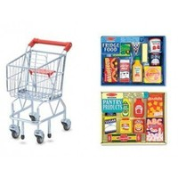Melissa & Doug Grocery Cart, Wooden Play Pantry and Fridge Food Sets at OrlandoTrend.com