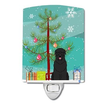 Merry Christmas Tree Black Russian Terrier Ceramic Night Light BB4151CNL