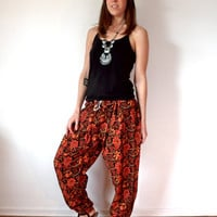 Ethnic Indian Harem Pants Hippie Gypsy Drop-Crotch