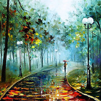 Fog Of Passion — Artistic Signed Print on Cotton Canvas By Leonid Afremov