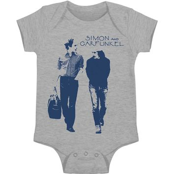 Simon & Garfunkel Boys' Walking Bodysuit Grey