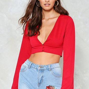 Take Flare of Me Crop Top