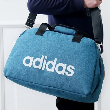 ADIDAS 2018 trendy men's and women's sports training bag F-A30-XBSJ Peacock Blue