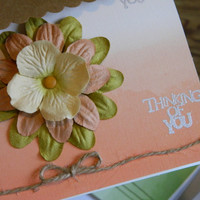 Thinking of you card - Blank Greeting Card - Flower Note Card
