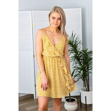 Take Your Pick Dress-Mustard