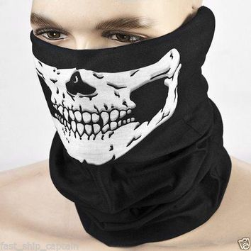 Motorcycle SKULL Ghost Face Windproof Mask Magic Headband Neck Warmer Bicycle Riding Face Mask Head Scarf Scarves Outdoor Sports