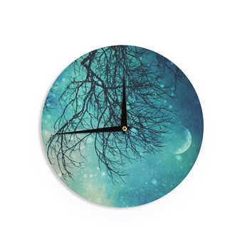"Sylvia Cook ""Winter Moon"" Wall Clock"