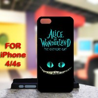 Alice in Wonderland Cheshire Cat Smile For IPhone 4 or 4S Case / Cover