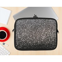 The Black Unfocused Sparkle Ink-Fuzed NeoPrene MacBook Laptop Sleeve