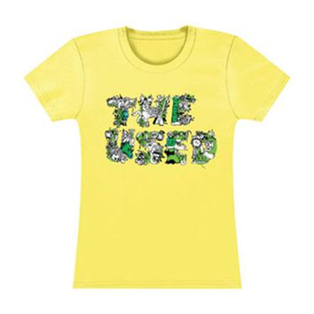 Used  Girls Jr Tissue Tee Yellow Rockabilia