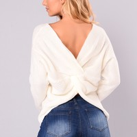Falls Favorite Girl Sweater - Ivory