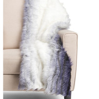 Ombre Faux Fur Throw - Cozy Accents - T.J.Maxx