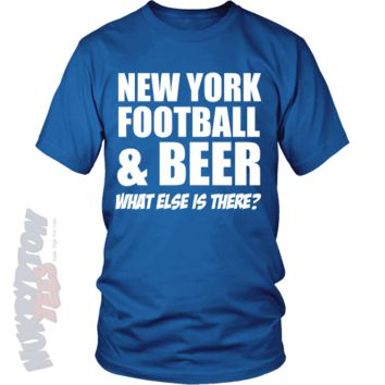 New York, Football & Beer - Funny Unisex Sports T Shirts