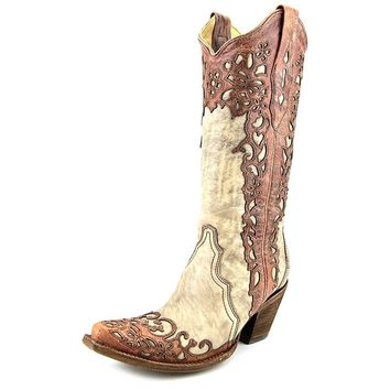 Corral New Women's A2665 Laser Overlay Western Boot