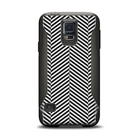 The Black and White Opposite Stripes Samsung Galaxy S5 Otterbox Commuter Case Skin Set