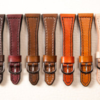 Leather watch strap, watch band, leather watch band, men's strap, 18 mm, 20 mm, 22 mm, 24 mm watch strap