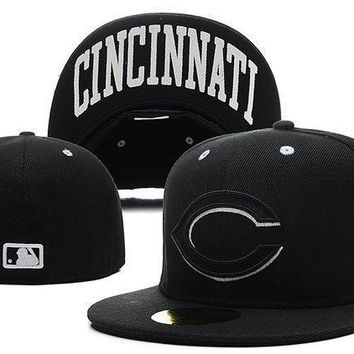 Cincinnati Reds New Era Mlb Authentic Collection 59fifty Hat Black