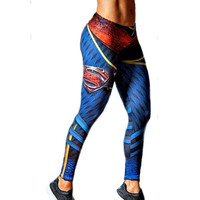 Europe America Styles Superman 3D Printing Women Leggings Fitness Sexy New Stretch Dancing Workout Legging ropa deportiva mujer
