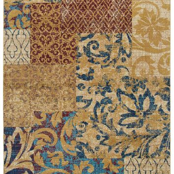 Rizzy Home Xceed XE7030 Gold Patch Work Area Rug