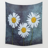 Marguerites Wall Tapestry by Maria Heyens