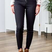 Kan Can High Rise Jeans- Black
