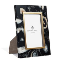 Picture Frame in Black Banded Agate 4x6   Kendra Scott