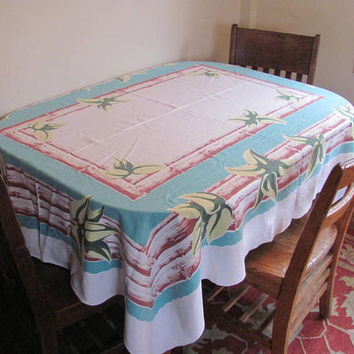 Vintage tablecloth / floral fabric blanket