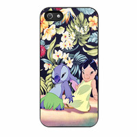 Lilo And Stitch Dancing Floral iPhone 5 Case