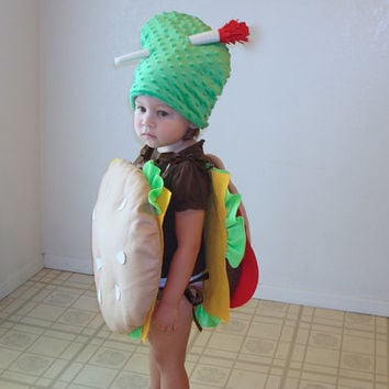 Kids Costume Cheeseburger Hamburger Halloween Costume Purim Dress Up Photo Prop Boys Costume Pickle Costume Children Toddler