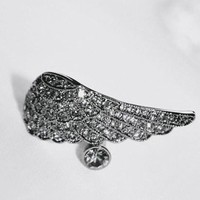 # Free Shipping # Silver Pirate Ship Angel Wings Rings HSP41773  from ViwaFashion